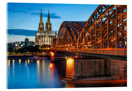 Acrylic print  Cologne Cathedral and Hohenzollern Bridge at night - Jan Christopher Becke