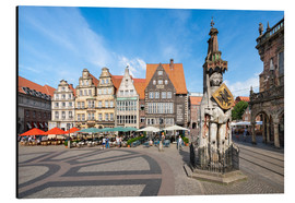 Alu-Dibond  Historic Market Square in Bremen with Roland Statue - Jan Christopher Becke