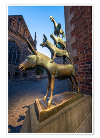 Premium poster  The statue of the Bremen Town Musicians - Jan Christopher Becke