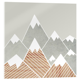 Acrylic print  Concrete mountains 2 - Mia Nissen