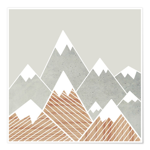 Premium poster Concrete mountains 2