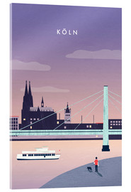 Acrylic glass  Cologne Illustration - Katinka Reinke
