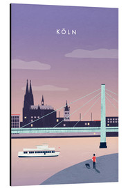 Aluminium print  Cologne Illustration - Katinka Reinke