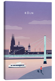 Canvas print  Cologne Illustration - Katinka Reinke