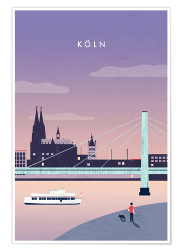 Premium poster Cologne Illustration