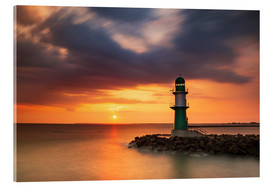 Acrylic print  Sunrise in Warnemünde - Simone Splinter