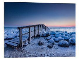 Forex  Jetty on the icy Baltic Sea near Travemünde - Heiko Mundel