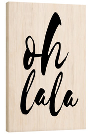 Wood print  Ohlala - Typobox