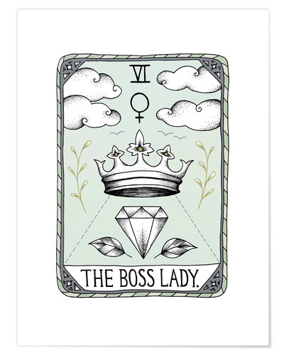 Premium poster The Boss Lady