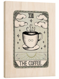 Wood print  The Coffee  - Barlena