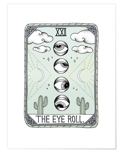 Poster The Eye Roll, Tarot card