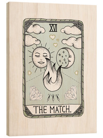 Wood print  The Match  - Barlena
