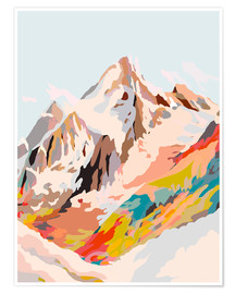 Premium poster glass mountains