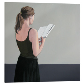 Acrylic glass  Girl reading - Karoline Kroiss