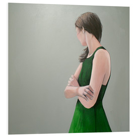 Foam board print  green dress - Karoline Kroiss