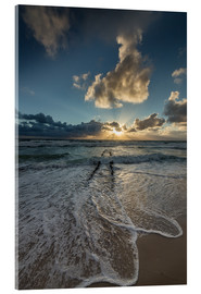 Acrylic print  Sunset with groyne on Sylt - Heiko Mundel