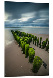 Acrylic glass  mystical groyne on Sylt (long exposure) - Heiko Mundel