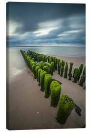 Canvas  mystical groyne on Sylt (long exposure) - Heiko Mundel