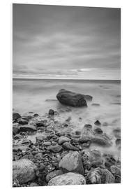 Foam board print  Granite in the Baltic Sea (long exposure) - Heiko Mundel