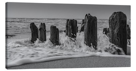 Canvas print  Groyne with waves - Heiko Mundel