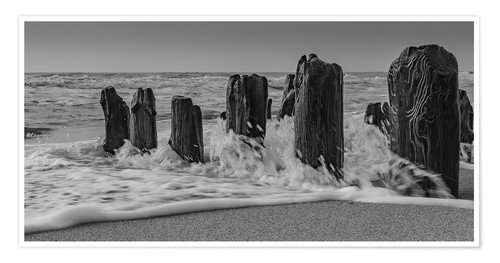 Premium poster Groyne with waves