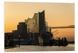 Foam board print  Morning mood at the Elbphilharmonie, Hamburg - Heiko Mundel