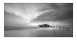 Premium poster  54Brad beach bar in St.Peter-Ording (long exposure) - Heiko Mundel