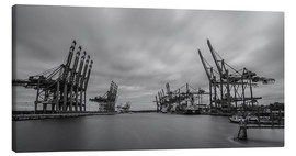 Canvas  Containerhafen Hamburg Waltershof (long exposure) - Heiko Mundel