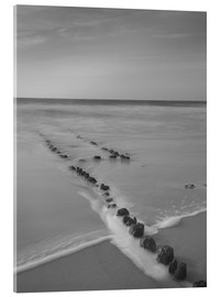 Acrylic print  Groyne on Sylt (long exposure) - Heiko Mundel