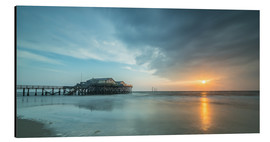 Aluminium print  Sunset at the beach bar 54Grad in St.Peter-Ording - Heiko Mundel