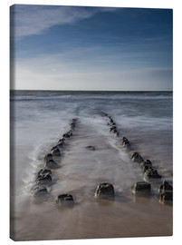 Canvas print  Groyne on Sylt (long exposure) - Heiko Mundel