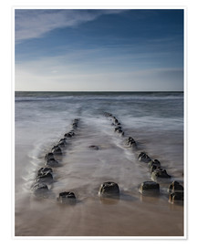 Premium poster Groyne on Sylt (long exposure)