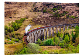 Acrylic glass  Glenfinnan viaduct with incoming train - Reemt Peters-Hein
