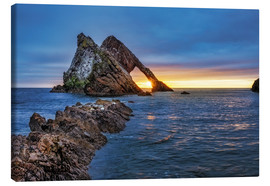 Canvas print  Sunrise at Bow Fiddle Rock - Reemt Peters-Hein