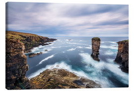 Canvas print  Yesnaby Cliffs on Orkney Islands - Reemt Peters-Hein