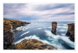 Premium poster Yesnaby Cliffs on Orkney Islands
