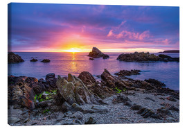 Canvas print  Sunrise at Cullen Bay near Portknockie - Reemt Peters-Hein