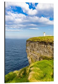 Aluminium print  Duncansby Head Lighthouse at John o Groats - Reemt Peters-Hein