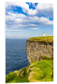 Foam board print  Duncansby Head Lighthouse at John o Groats - Reemt Peters-Hein