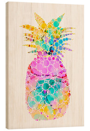 Wood print  Ananas - Miss Coopers Lounge