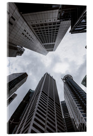 Acrylic print  Skyscrapers in the business centre, Singapore - Matteo Colombo