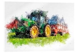 Acrylic print  tractor - Peter Roder