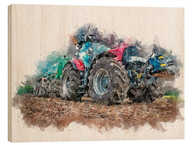 Wood print  tractor - Peter Roder