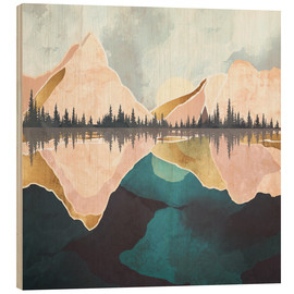 Wood print  Reflection in the lake - SpaceFrog Designs