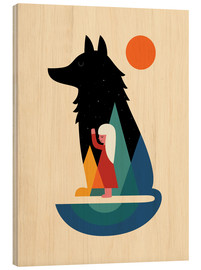 Wood print  Best Friend - Andy Westface