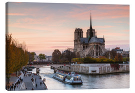 Canvas print  Sunset over Notre Dame, Paris - Matteo Colombo