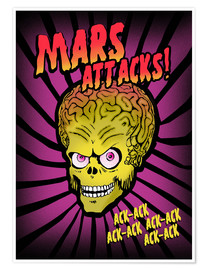 Premium poster Mars Attacks! movie art inspired