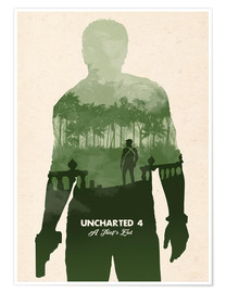 Poster Alternative Uncharted 4 videogame art print
