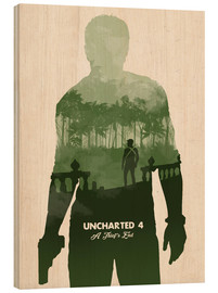 Golden Planet Prints - Alternative Uncharted 4 videogame art print