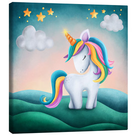 Canvas print  Cute unicorn - Elena Schweitzer